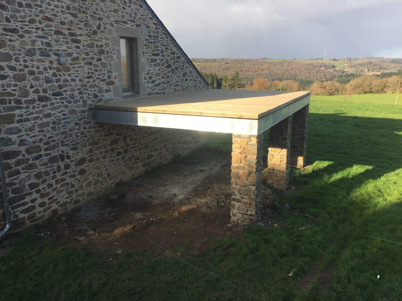 terrasse sur piliers 2dineault - Accueil